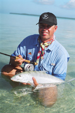 Catching fish in the Cook Islands.