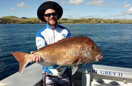 Fishing for Snapper in New Zealand.