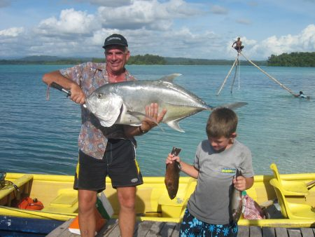 Fishing in the Solomon Islands.
