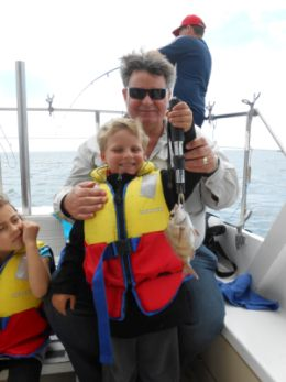 Kids fishing charter.